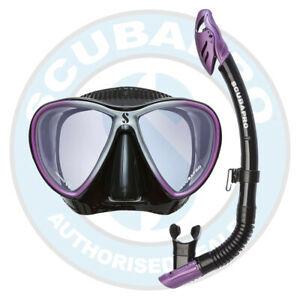 scubapro synergy mask and snorkel set purple